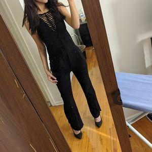 Forever 21 black jumpsuit -like new!